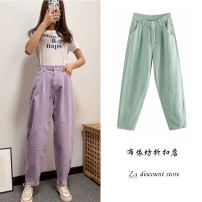 Jeans Spring 2020 Violet, lake blue XS,S,M,L High waist routine 18-24 years old Cotton denim 91% (inclusive) - 95% (inclusive)