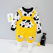 suit 73cm,80cm,90cm,100cm,110cm neutral spring and autumn leisure time Long sleeve + pants 2 pieces routine No model Socket nothing Cartoon animation cotton children Expression of love Class A Cotton 95% polyurethane elastic fiber (spandex) 5% Chinese Mainland Zhejiang Province