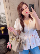 Women's large Summer 2020 white Large XL, large XXL, large XXL, large XXXXL, large XXXXL shirt singleton  commute easy moderate Cardigan Short sleeve Plants and flowers Korean version V-neck routine Cotton, others Three dimensional cutting Addictive 18-24 years old
