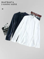 shirt Youth fashion Others S / 165, M / 170, L / 175, XL / 180, XXL / 185, L / 175 stains White, Navy routine other Long sleeves standard Other leisure spring L6881