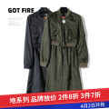 Dress Autumn 2020 Tibetan green, military green XS,S,M Mid length dress singleton  Long sleeves commute routine 25-29 years old Other / other Korean version L2867