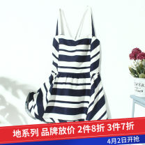 Dress Summer 2020 Tibetan white stripe Xs, s, m, l, s stains singleton  stripe 18-24 years old Other / other L1980