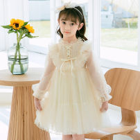 Dress Apricot, pink female Other / other 110cm,120cm,130cm,140cm,150cm Other 100% spring and autumn princess Long sleeves Solid color other A-line skirt Class B Three, four, five, six, seven, eight, nine Chinese Mainland