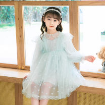 Dress Green, pink female Other / other 110cm,120cm,130cm,140cm,150cm Other 100% spring and autumn princess Long sleeves Broken flowers other A-line skirt T22042 Class B Three, four, five, six, seven, eight, nine Chinese Mainland