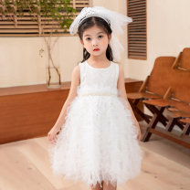 Dress White, pink, champagne female Other / other 100cm,110cm,120cm,130cm,140cm,150cm Other 100% summer Korean version Skirt / vest Solid color other Cake skirt T22104 Class B Three, four, five, six, seven, eight, nine Chinese Mainland