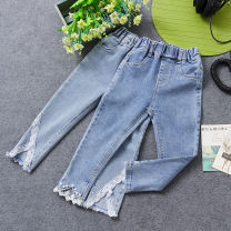 trousers Other / other female spring and autumn trousers Korean version No model Jeans Leather belt middle-waisted Don't open the crotch Class B Three, four, five, six, seven, eight, nine Chinese Mainland