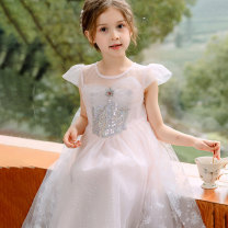 Dress White, blue, pink female Other / other 110cm,120cm,130cm,140cm,150cm Other 100% summer Korean version Short sleeve other other Fluffy skirt T22106 Class B Three, four, five, six, seven, eight, nine Chinese Mainland