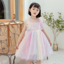 Dress Pink purple, blue purple female Other / other 110cm,120cm,130cm,140cm,150cm Polyester 100% summer princess Short sleeve other other A-line skirt T22095 Class B Three, four, five, six, seven, eight, nine, ten Chinese Mainland