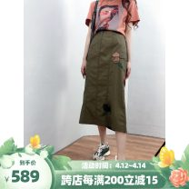 skirt Spring 2021 Army green, camel longuette commute Natural waist other Solid color Type A 25-29 years old 51% (inclusive) - 70% (inclusive) other BodhlCat other Britain