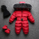 Down Jumpsuit 90% polyester White duck down 80cm,90cm,100cm,110cm,120cm Other / other Detachable cap Long sleeves neutral winter Long climb 3 months, 6 months, 12 months, 18 months, 2 years, 3 years
