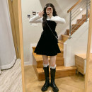 Dress Winter 2020 skirt Average size Short skirt singleton  Sleeveless Sweet High waist Solid color Socket A-line skirt camisole 18-24 years old Type A 30% and below other other solar system