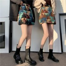 skirt Winter 2020 S, M Black, coffee Short skirt Sweet High waist A-line skirt other Type A 18-24 years old 30% and below other other college