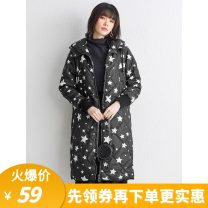 Cotton padded clothes black XS,S,M,L,XL,XXL,XXXL Winter 2020 9 Charms have more cash than can be accounted for Long sleeves routine zipper Hood routine shape 9m 25-29 years old