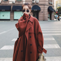 woolen coat Winter 2020 S. M, l, XL suggest 136-155 Jin, XXL suggest 156-165 Jin, XXXL suggest 166-190 Jin, XXXXL (suggest 190-200 Jin), XXXXXL suggest 200-240 Jin Brick red with cotton, camel color with cotton, big red double-sided cloth, black double-sided cloth, retro red with cotton wool commute