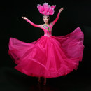 National costume / stage costume Summer of 2019 Rose red rose red with headdress S ml XL 2XL 3XL 4XL customized YSY190605 Cloud watching wings 25-35 years old Other 100% Exclusive payment of tmall