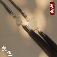 Hanfu 96% and above Summer 2020 Dark grey, black, white, headband, premium silver Average size polyester fiber