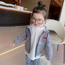 Parent child fashion Blue and gray stripes. Women's dress female Tongxiaoguai 90cm (label 5), 100cm (label 7 / model size), 110cm (label 9), 120cm (label 11), 130cm (label 13), 140cm (label 15), 150cm (label 17), mom m (160-165), mom L (165-170) O spring and autumn Korean version routine stripe yy47