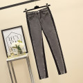 Women's large Summer 2021 Smoky grey L (100-120 kg recommended), XL (120-140 kg recommended), 2XL (140-160 kg recommended), 3XL (160-180 kg recommended), 4XL (180-200 kg recommended) trousers singleton  commute Self cultivation thin Korean version JFL1F092P655K6021 25-29 years old trousers