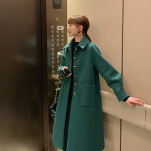 woolen coat Winter of 2019 S M L polyester 95% and above have more cash than can be accounted for Long sleeves commute Single breasted routine Polo collar Solid color Straight cylinder Korean version R. Jstory / rejia 25-29 years old Polyester 100% Pure e-commerce (online only)
