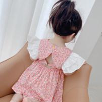 Dress Green, pink female Other / other 80cm,90cm,100cm,110cm,120cm,130cm Other 100% summer Korean version Short sleeve Solid color other A-line skirt 12 months, 6 months, 9 months, 18 months, 2 years old, 3 years old, 4 years old, 5 years old, 6 years old, 7 years old Chinese Mainland Hangzhou
