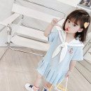 Dress Light blue, pink female Other / other 80cm,90cm,100cm,110cm,120cm,130cm Other 100% summer Korean version Short sleeve Cartoon animation other Pleats 12 months, 6 months, 9 months, 18 months, 2 years old, 3 years old, 4 years old, 5 years old, 6 years old, 7 years old Chinese Mainland Hangzhou