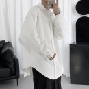 shirt Youth fashion Others M,L,XL White, black routine Pointed collar (regular) Long sleeves easy Other leisure spring