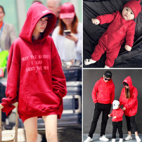 Parent child fashion A family of three Female, male, neutral Yiguli Red letter winter college Plush Solid color Sweater / sweater With children S,M,L,XL,XXL Chinese Mainland