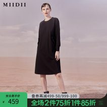 Dress Autumn 2020 Black scarlet S M L XL XXL Mid length dress singleton  Long sleeves Crew neck Socket other routine 25-29 years old Type H The answer 203ML1945 31% (inclusive) - 50% (inclusive) cotton