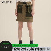 skirt Spring 2021 XS S M L XL XXL Chinese Navy basketball team Short skirt commute Natural waist Denim skirt Type H 203MB1900 51% (inclusive) - 70% (inclusive) The answer nylon pocket Retro Polyamide fiber (nylon) 61.7% cotton 35.5% polyurethane elastic fiber (spandex) 2.8%