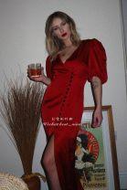 Dress Winter 2020 gules 6,8,10,12,14 longuette singleton  Short sleeve commute V-neck High waist Solid color zipper One pace skirt routine Type H DE LA VALI zipper polyester fiber