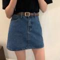 skirt Spring 2021 S,M,L,XL Light blue, dark blue Short skirt Versatile Natural waist A-line skirt Type A 18-24 years old 30% and below Denim other