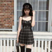Dress Winter of 2019 XS,S,M,L Short skirt street High waist lattice camisole Type X VOCK