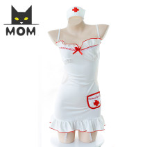Cartoon T-shirt / Shoes / clothing A cat skirt Over 14 years old goods in stock white Average size No season female solar system