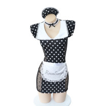 Cartoon T-shirt / Shoes / clothing A cat skirt Over 14 years old goods in stock Black dots Average size No season other female