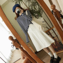 skirt Autumn 2020 S,M,L ash , black , Rice white , purple , Rice white problem to see pictures do not return do not change 1 , Gray problem to see pictures do not return or change 2