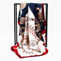 Scarf / silk scarf / Shawl polyester Spring and autumn, summer and winter female Scarves / scarves decorate Europe and America Large square towel Youth, middle age and old age Plants and flowers printing 90cm 90cm More than 96% Han he Spring / summer 2018 no