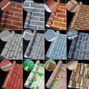 PVC wallpaper Shenwang 1 volume China 6 m2 / roll Paper Wallpaper only 60 cm wide brick pattern Northern Europe Zero point six No pattern Others