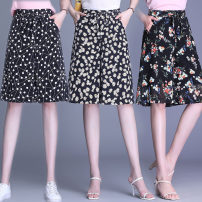 Casual pants Black, black and white, orange, red, green, Daisy, dot S,M,L,XL,2XL,3XL,4XL,5XL Summer 2020 Pant Wide leg pants High waist commute Thin money 25-29 years old Simplicity pocket