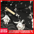 Fabric / fabric / handmade DIY fabric chemical fiber Black - small checkered - 140 cm * half meter, white - small checkered - 140 cm * half meter, black - silk like - 24 * 145cm, white - silk like - 24 * 145cm Cat line ball