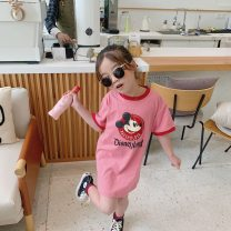 T-shirt Other / other 90cm,100cm,110cm,120cm,130cm,140cm female summer Short sleeve Crew neck leisure time There are models in the real shooting nothing cotton Cartoon animation Cotton 100% Sweat absorption Two, three, four, five, six, seven, eight, nine