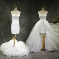 Wedding dress Summer 2014 Single skirt, single tail Tailored, private, s (waist 63), m (waist 66), l (waist 70) grace Small tail Lace Hotel Interior Chest type Lace Three dimensional cutting CXLHS05231 middle-waisted 25-35 years old Diamond ornament Glass drill