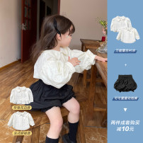 shirt Pearl lace, French doll, the second batch of French doll, with bract pants, 10 yuan less The Little Avery female 90cm,100cm,110cm,120cm,130cm spring and autumn Long sleeves princess Dot other Lapel and pointed collar