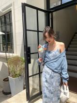 Dress Summer 2021 XS,S,M Mid length dress singleton  Sleeveless commute High waist zipper camisole 25-29 years old Type X MC Simplicity