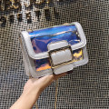 Bag The single shoulder bag Acrylic plastics Small square bag Other / other Pink color silver brand new Japan and South Korea Small leisure time hard