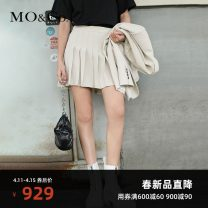 skirt Spring 2021 XS/155 S/160 M/165 L/170 XL/175 Gritty medium grey Short skirt street High waist Pleated skirt Solid color 25-29 years old MBA1SKTT02 More than 95% MO & Co. / Moco polyester fiber Polyester 100% Same model in shopping mall (sold online and offline) Europe and America