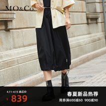 skirt Spring 2021 XS/155 S/160 M/165 L/170 XL/175 black Mid length dress street High waist Solid color 25-29 years old More than 95% MO & Co. / Moco nylon Polyamide fiber (nylon) 100% Same model in shopping mall (sold online and offline) Europe and America