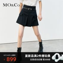 skirt Summer 2021 XS/155 S/160 M/165 L/170 XL/175 black Short skirt street High waist A-line skirt Solid color 25-29 years old MBA2SKT020 51% (inclusive) - 70% (inclusive) MO & Co. / Moco wool Wool 50.5% polyester 49.5% Same model in shopping mall (sold online and offline) Europe and America