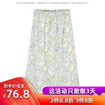 skirt Summer 2021 M, L Color pattern More than 95% polyester fiber