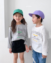 T-shirt Grey (7-15 days reservation) and ivory (7-15 days reservation) Other / other 5 (90cm height), 7 (100cm height), 9 (110cm height), 11 (120cm height), 13 (130cm height), 15 (140cm height), 17 (150cm height), 19 (160cm height) neutral spring and autumn Long sleeves Crew neck Korean version