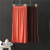 skirt Summer 2021 Average size Orange, coffee Middle-skirt High waist skirt Solid color More than 95% modal